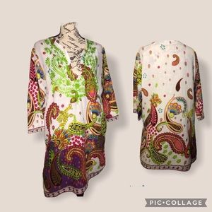 HIGHNESS Paisley Embroidery Tunic /Size Free Size